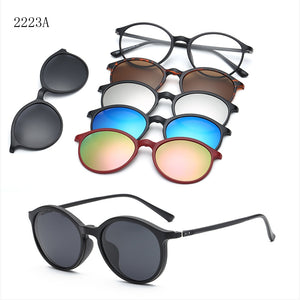 6 IN 1 TRENDY MAGNETIC SUNGLASSES