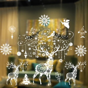 Large Merry Christmas Window Stickers