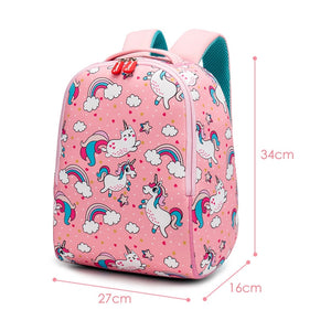 Pink Unicorn School Bags For Girls