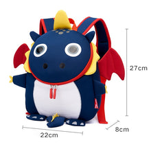 Load image into Gallery viewer, 3D Fire Dragon Kids School Bags