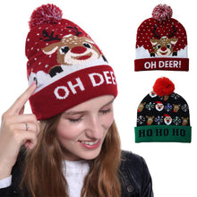 Load image into Gallery viewer, LED Christmas Hat for Children Adult