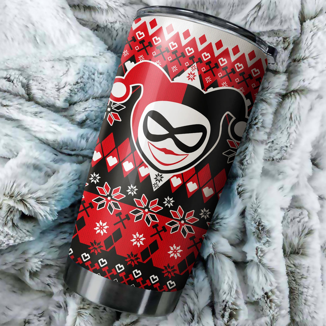 Harley Quinn Christmas tumbler perfect gift Stainless Traveling Mugs