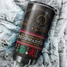 Load image into Gallery viewer, Harry Potter I'd Rather Stay At Hogwarts This Christmas tumbler perfect gift Stainless Traveling Mugs