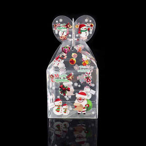 3Pcs Transparent Candy Box Merry Christmas