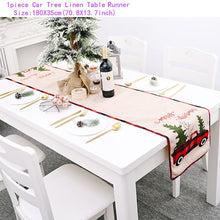 Load image into Gallery viewer, Snowman Table Runner Merry Christmas Decor