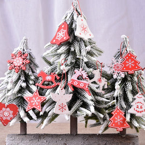 10pcs 5cm Christmas Wooden Decorations for Home Tree
