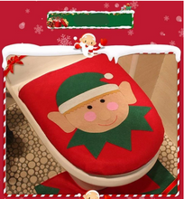 Load image into Gallery viewer, 3 in 1 Christmas Toilet Seat Cover Set