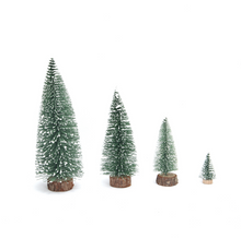 Load image into Gallery viewer, Christmas mini Christmas tree with white cedar flocking desktop window decoration Small Christmas decorations