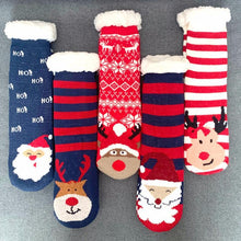 Load image into Gallery viewer, Thickening Fleece Warm Cartoon Christmas Floor Stocking