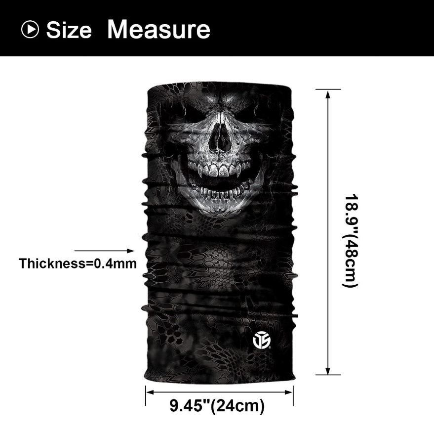 Skull Black & White Bandanas (from 10.99$/pc)
