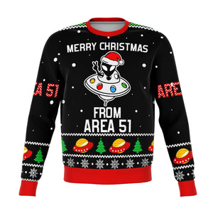 AREA 51 Aliens Premium Ugly Christmas Sweater