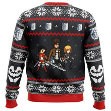 Load image into Gallery viewer, Attack on Titan Colossal Claus Premium Ugly Christmas Sweater
