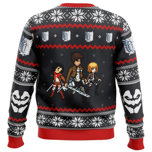 Attack on Titan Colossal Claus Premium Ugly Christmas Sweater