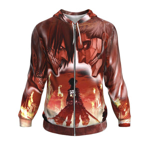 Burning Attack on Titan Hoodie