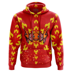 Burning Charizard Pokemon Hoodie