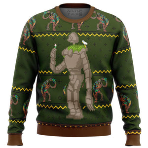 CASTLE IN THE SKY Laputan Robot Soldier Premium Ugly Christmas Sweater