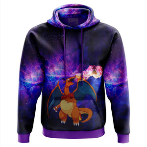 Charizard On Fire Pokemon Hoodie