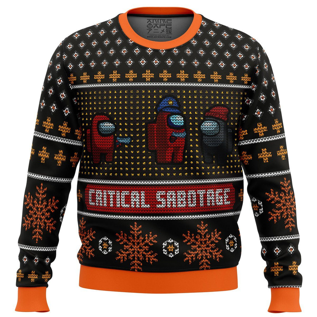Critical Sabotage Among Us Premium Ugly Christmas Sweater