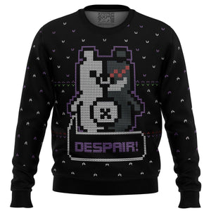 Danganropa Monokuma Despair Premium Ugly Christmas Sweater