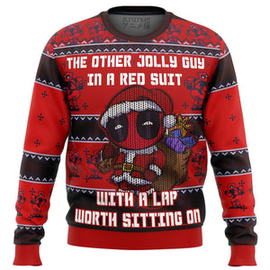 Deadpool Jolly Red Guy Premium Ugly Christmas Sweater