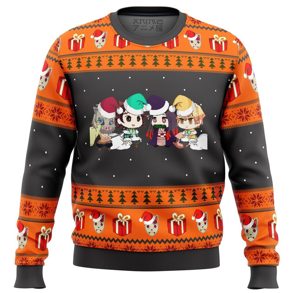 Demon Slayer Chibi Premium Ugly Christmas Sweater
