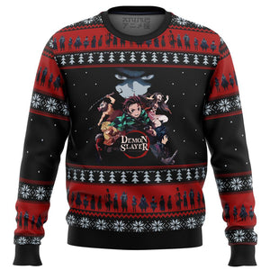 Demon Slayer Poster Premium Ugly Christmas Sweater