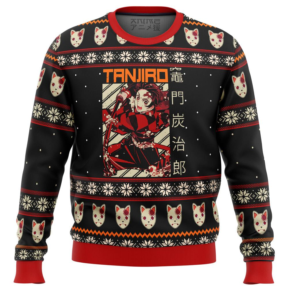 Demon Slayer Tanjiro Premium Ugly Christmas Sweater