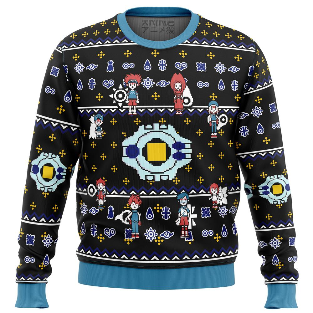 Digimon Characters Premium Ugly Christmas Sweater