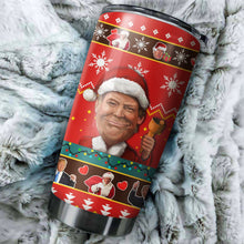 Load image into Gallery viewer, Donald Trump Chritmas Tumbler No.1