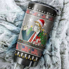 Load image into Gallery viewer, Donald Trump Chritmas Tumbler No.3