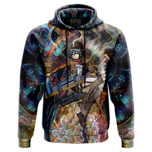 Focused Mikasa Attack on Titan Hoodie