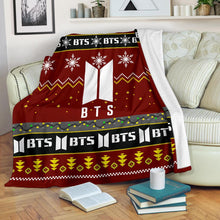 Load image into Gallery viewer, Red BTS Christmas Blanket
