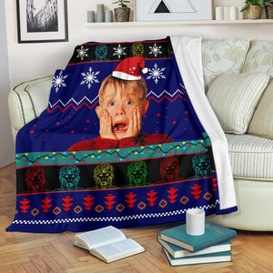 Home Alone Christmas Blanket