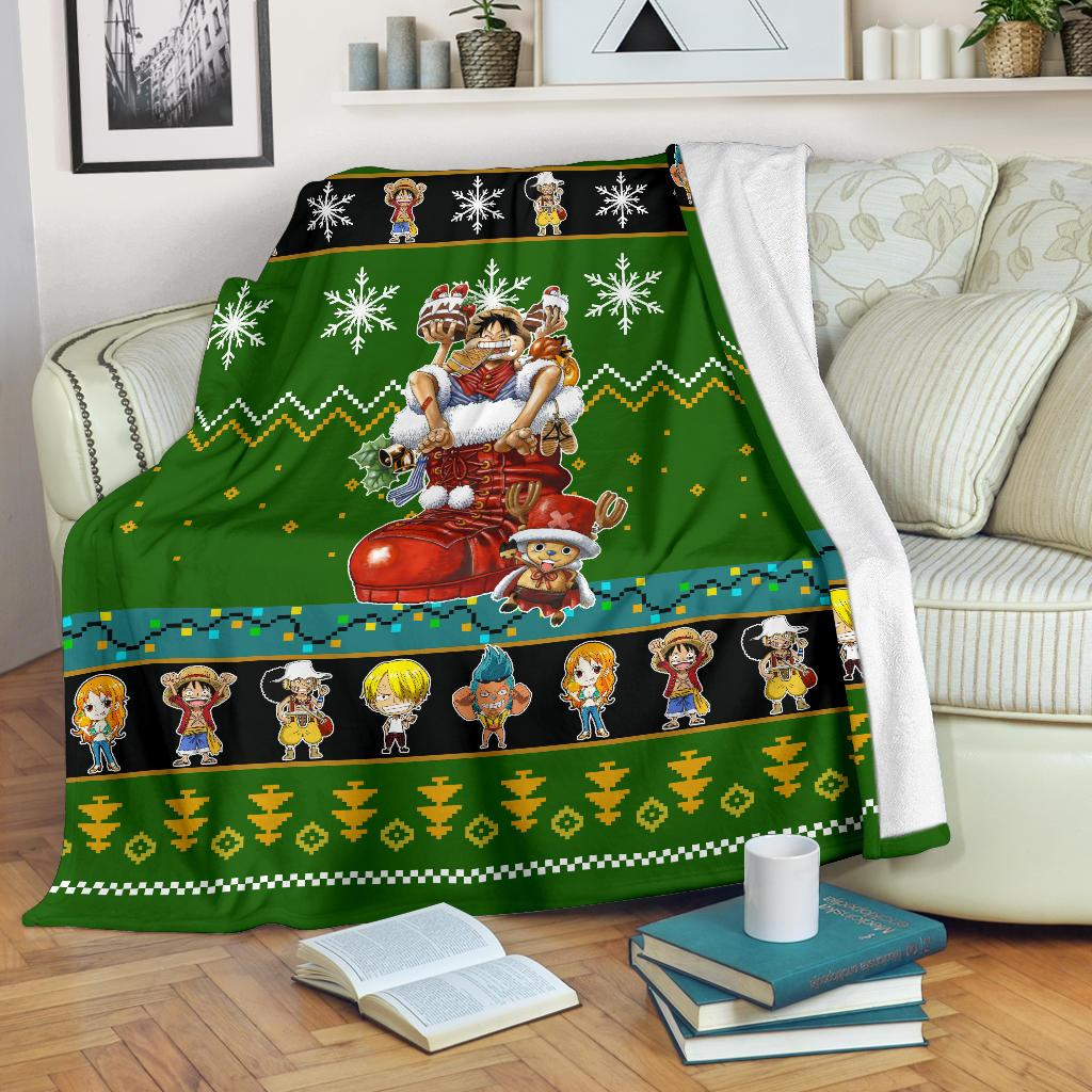 One Piece Christmas Blanket