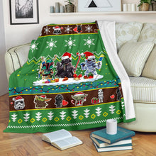 Load image into Gallery viewer, Green Star Wars Chibi Christmas Blanket