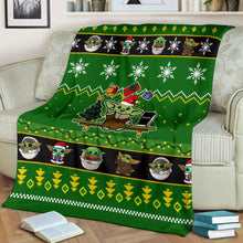 Load image into Gallery viewer, Baby Yoda Christmas Blanket