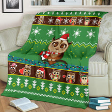 Load image into Gallery viewer, Owl Christmas Blanket