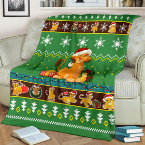 Lion King Christmas Blanket