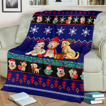 Load image into Gallery viewer, Labrador Retriever Christmas Blanket