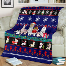 Load image into Gallery viewer, Llama Chritmas Christmas Blanket