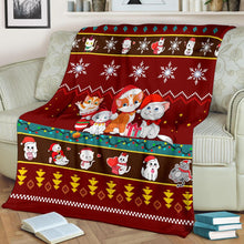 Load image into Gallery viewer, Cat Christmas Blanket