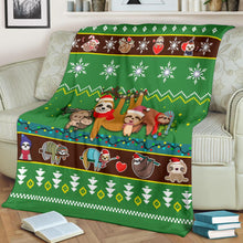 Load image into Gallery viewer, Sloth Christmas Blanket