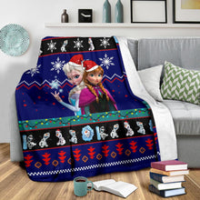 Load image into Gallery viewer, Frozen Christmas Blanket