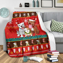 Load image into Gallery viewer, Red Bull Dog Christmas Blanket