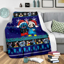 Load image into Gallery viewer, Stitch Mickey Christmas Blanket