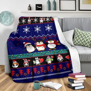 Penguins Blanket Christmas Blanket