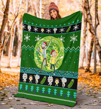 Load image into Gallery viewer, Rick And Morty Christmas Blanket