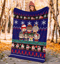 Load image into Gallery viewer, Blue BTS Christmas Blanket