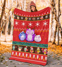 Load image into Gallery viewer, Cute Owl Christmas Blanket