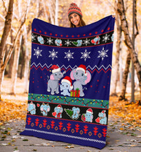 Load image into Gallery viewer, Elephent Blanket Christmas Blanket